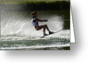 Water Athletes Greeting Cards - Water Skiing Magic of Water 16 Greeting Card by Bob Christopher