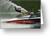 Water Athletes Greeting Cards - Water Skiing Magic of Water 26 Greeting Card by Bob Christopher