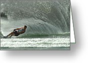 Sports Art Photo Greeting Cards - Water Skiing Magic of Water 7 Greeting Card by Bob Christopher