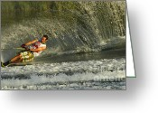 Water Athletes Greeting Cards - Water Skiing Magic of Water 8 Greeting Card by Bob Christopher