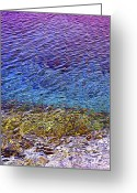 Reflecting Greeting Cards - Water surface  Greeting Card by Elena Elisseeva