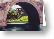 Dominica Alcantara Greeting Cards - Water Under the Bridge Greeting Card by Dominica Alcantara