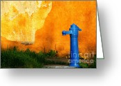 Drain Greeting Cards - Water well Greeting Card by Odon Czintos