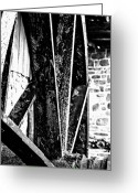 Gray-scale Greeting Cards - Water Wheel Greeting Card by Gallery Three