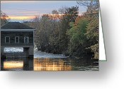 Saco River Greeting Cards - Water Works Greeting Card by Jeremy McKay