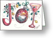 Holiday Notecard Greeting Cards - Watercolor Christmas Notecard Greeting Card by Michele Hollister - for Nancy Asbell