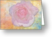 Digitally Enhanced Greeting Cards - Watercolor Rose Greeting Card by Susan Candelario