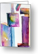 Lever Greeting Cards - Watercolor Sculpture Greeting Card by Mindy Newman