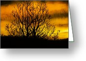 Sunset Drawings Greeting Cards - Watercolour Sunset Greeting Card by Svetlana Sewell