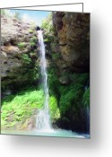 Splashes Greeting Cards - Waterfall 2 Greeting Card by Jeff Kolker