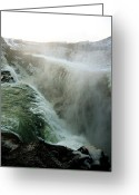 Chic Greeting Cards - Waterfall 2 Greeting Card by Oliver Johnston