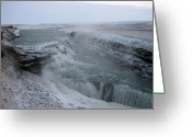 Chic Greeting Cards - Waterfall 3 Greeting Card by Oliver Johnston