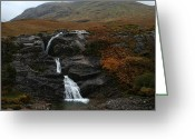Daniel Krause Greeting Cards - Waterfall Greeting Card by Daniel Krause