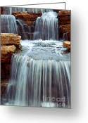Stone Greeting Cards - Waterfall Greeting Card by Elena Elisseeva
