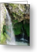 Waterfall Greeting Cards - Waterfall Greeting Card by Jeff Kolker