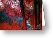 Abstract Art Tapestries - Textiles Greeting Cards - Waterfall Of Dreadlocks  Greeting Card by Alexandra Jordankova