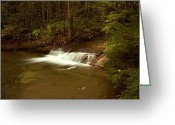 Quite Greeting Cards - Waterfall of New Hampshire Greeting Card by Amanda Kiplinger