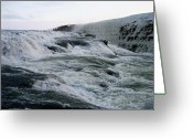 Opulent Greeting Cards - Waterfall Greeting Card by Oliver Johnston