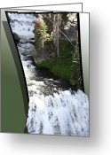 Out Of Frame Greeting Cards - Waterfall Greeting Card by Shane Bechler