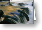 Time Exposures Greeting Cards - Waterfall, Yosemite National Park Greeting Card by Marc Moritsch