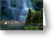 Wonderful Greeting Cards - Waterfall02 Greeting Card by Carlos Caetano