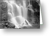Carolina Greeting Cards - Waterfalls At Chimney Rock State Park Greeting Card by Holden Richards