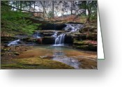 Ecstasy Greeting Cards - Waterfalls Cascading Greeting Card by Douglas Barnett