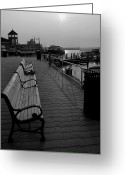 Alexandria Greeting Cards - Waterfront Benches II Greeting Card by Steven Ainsworth