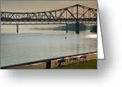 Park Benches Greeting Cards - Waterfront Park III Greeting Card by Steven Ainsworth