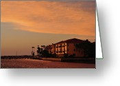 Florida Living Greeting Cards - Waterfront Greeting Card by Peter  McIntosh