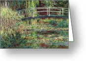 Pond Painting Greeting Cards - Waterlily Pond Greeting Card by Claude Monet