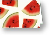 Watermelon Photo Greeting Cards - Watermelon Greeting Card by Photo Researchers