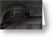 Altered Photograph Greeting Cards - watermill in Krumbach I Greeting Card by Nafets Nuarb