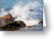 Spume Greeting Cards - Waterpower Greeting Card by Heiko Koehrer-Wagner