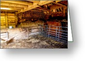 Shed Greeting Cards - Watersfield Stable Greeting Card by Dawn OConnor