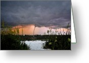Sea Oats Digital Art Greeting Cards - Waterspout over Pass A Grill Greeting Card by David Lee Thompson