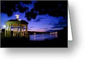 Schuylkill Greeting Cards - Waterworks at Night Greeting Card by Andrew Dinh