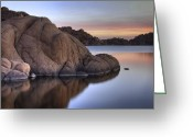 Watson Lake Greeting Cards - Watson Lake Arizona Colors Greeting Card by Dave Dilli