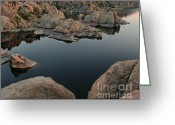 Watson Lake Greeting Cards - Watson Lake at Sunset Greeting Card by Dave Dilli