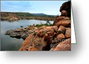 Watson Lake Greeting Cards - Watson lake  Greeting Card by Julie Lueders