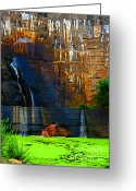 Watson Lake Greeting Cards - Watson lake waterfall Greeting Card by Julie Lueders