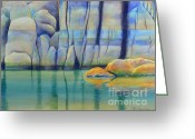Watson Lake Greeting Cards - Watson Rocks Greeting Card by Robert Hooper