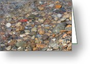 Martha Greeting Cards - Wave over Beautiful Rocks Greeting Card by Carol Groenen