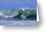 Corona Greeting Cards - Wave study 97 Greeting Card by Viktor Savchenko