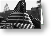 U.s.a. President Greeting Cards - Wave the flag Greeting Card by Robert Ulmer