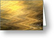 Horizontal Lines Digital Art Greeting Cards - Wavelength Greeting Card by Kim Sy Ok