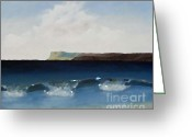 Beach Scenery Mixed Media Greeting Cards - Waves 1 Greeting Card by Patrick J Murphy