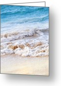 Foam Greeting Cards - Waves breaking on tropical shore Greeting Card by Elena Elisseeva