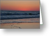 Oceans And Seas Greeting Cards - Waves In The Gulf Of Mexico Greeting Card by Stacy Gold