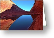 Symmetry Greeting Cards - Waves Of Symmetry Greeting Card by Jean Day Landscape Photography